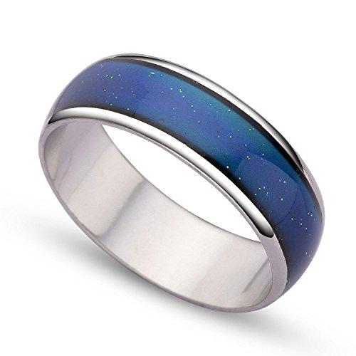 VIKI LYNN - Mordern Ring Fuer Frau/Mann - Farb Change- Ring Oberflaechenbreite 0,6 mm