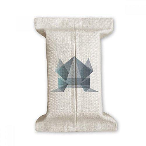 DIYthinker Rana Origami Abstracto Forma geométrica Papel de Tejido de algodón Cubierta de Lino del almacenaje del sostenedor del envase Regalo 17x27cm