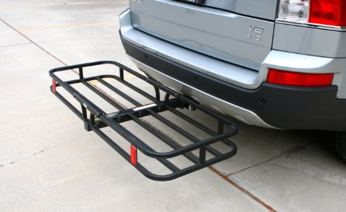 MaxxHaul 70107 Hitch Mount Compact Cargo Carrier - 53 x 19-1/2 - 500 lb. Maximum Capacity for 2 Hitch Receiver