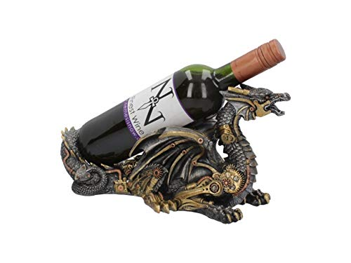 Nemesis Now Guardian of The Grapes - Soporte para Botellas de Vino (20 cm), Color Plateado