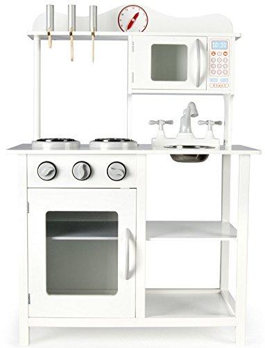 Leomark Weiße Klassische Holzküche für Kinder - 4