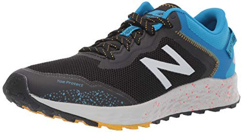 New Balance Men's Fresh Foam Arishi Trail V1 Running Shoe, Black/Vision Blue, 10 M US