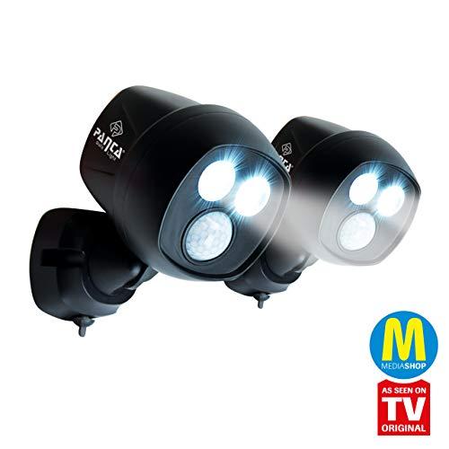 MediaShop Panta Safe Light 2er Set – LED Strahler für innen und außen – Außenleuchten mit Bewegungsmelder und Tageslichtsensor – wetterfeste LED Außenbeleuchtung – 2 Stk. - 3