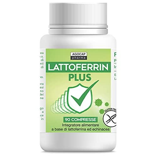 Lattofferina pura, 90 compresse | con Echinacea | Rinforza il sistema immunitario | Lattoferrina integratori | Antiossidante stimola le Difese Immunitarie | Integratore difesa immunitaria, Agocap