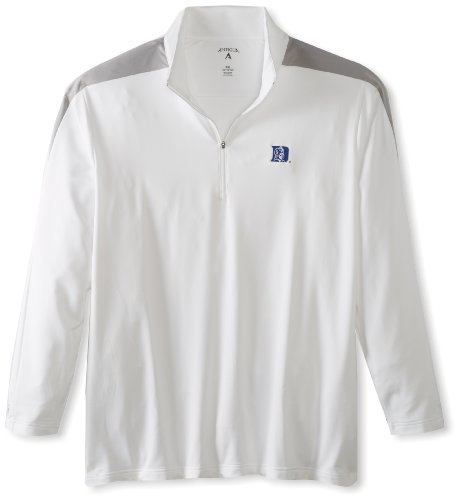 Antigua NCAA Duke Blue Devils Succeed Jersey Fleece Pullover, Weiß/Silber, Größe M