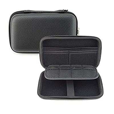 GHKJOK 3DS Carrying Case for NEW 3DS XL 2DS XL & Accessories with Mesh Pouch for game cards, stylus Hard Shell EVA Universal