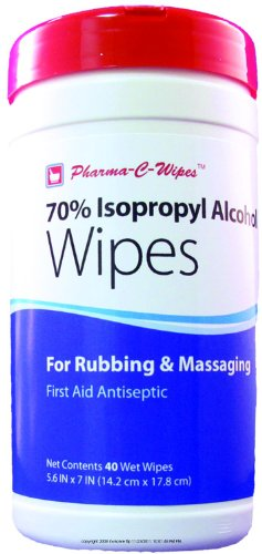 Pharma-C-Wipes 70% Isopropyl Alcohol Wipes (1 Canister of 40 Wipes)