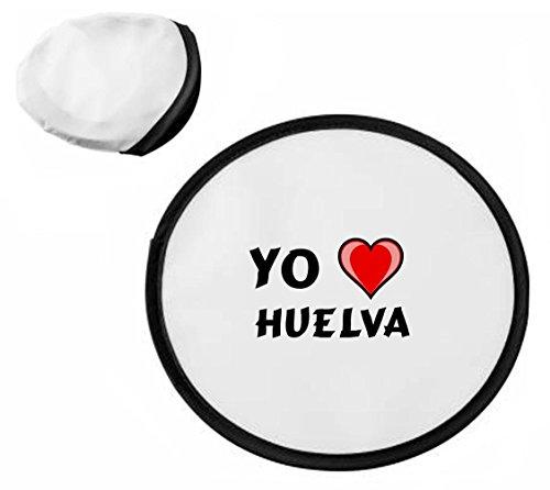 Disco volador personalizado (frisbee) con Amo Huelva (ciudad / asentam