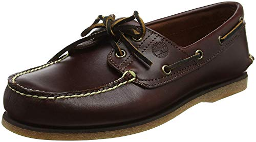 Timberland Men's 2-Eye Boat Shoe, Rootbeer/Brown, 10.5 W