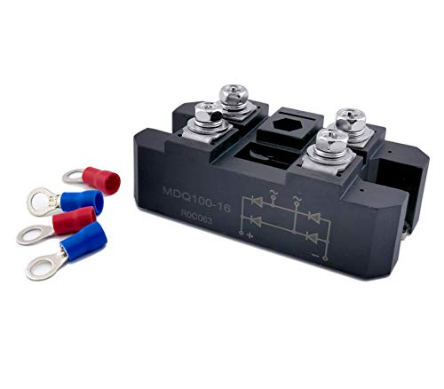 Bridge Rectifier MDQ 100A 1600V Single-Phase Diode Bridge Rectifier 4 Terminal Full Wave Diode Module Resin Packed Rectification Module