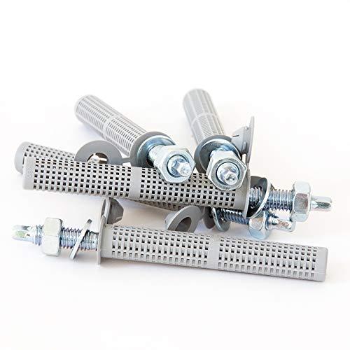 Montageset für Verbundmörtel: 5 Ankerstangen M8 x 110mm, verzinkt + 5 Siebhülsen Ø 12 x 80mm