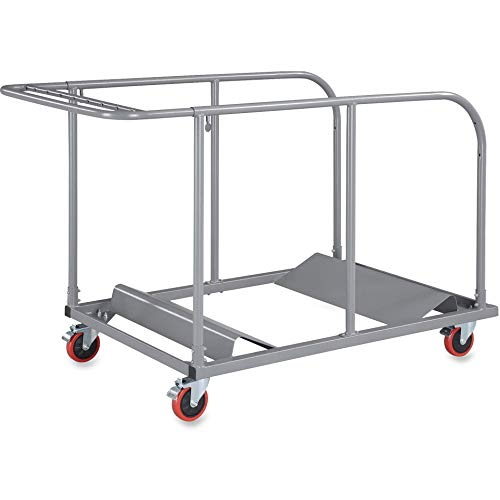 Lorell 65955 Round Table Cart, 32-3/4-Inch x52-Inch x40-4/25-Inch, Charcoal