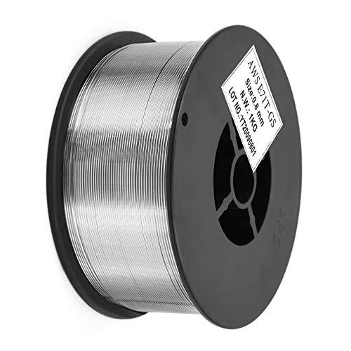 HITBOX Alambre con núcleo fundente para soldadura Mig sin gas 0.8 mm 1 kg sin soldador MIG a gas