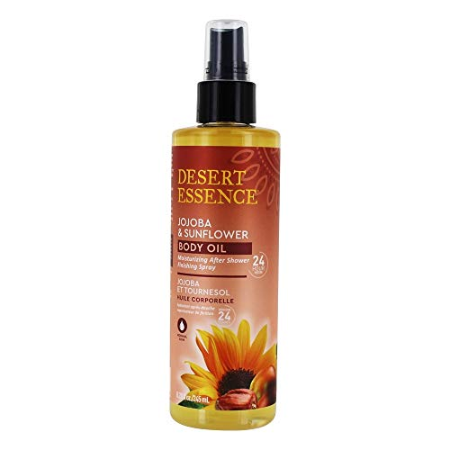Desert Essence Body Oil Spray, Jojoba Sunflower 8.28 Oz