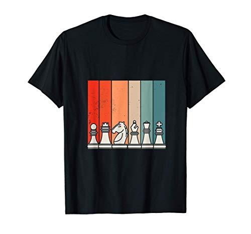 Schach, Schachfiguren Schachspiel Retro Sport, Aufstellung T-Shirt