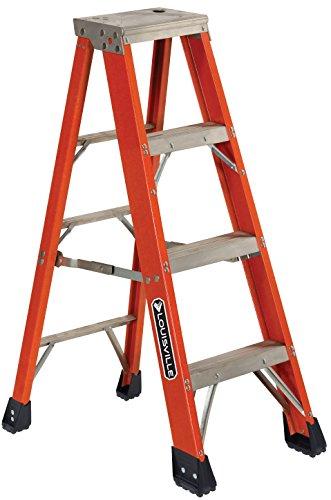 Louisville Ladder FS1304HD 375-Pound Duty Rating, Fiberglass Step Ladder, 4-Feet