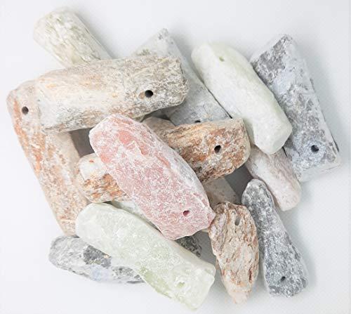 artdee Speckstein Amulett-Anhänger mit Loch - Rohlinge (25 Stück)