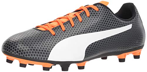 PUMA Herren Spirit FG Fußballschuh, Schwarz (Puma Black-puma White-Shocking Orange), 46 EU