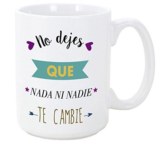 MUGFFINS Tazas Desayuno Originales con Frases motivadoras - No Dejes Que Nada...