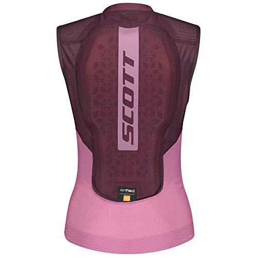 Scott W Airflex Light Protector Vest Colorblock-Pink-Rot, Damen Helme und Protektor, Größe L - Farbe Cassis Pink - Red F