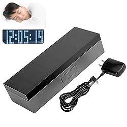 Jadpes Digital Electronic LED Alarm Clock,Digital Silent Luminous Electronic Clock-6-Digit 7-Segment White Light Alarm Calendar Snooze Wall Desk Clock