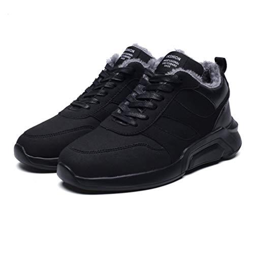 Heren Dames Liefhebbers Casual Schoenen Winter Comfortabel Warm houden Schoenen Suède Enkel Veterschoen Sport Running Sneaker Shoesblack
