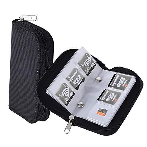 Demarkt Speicherkarten-Tasche Speicherkarten Aufbewahrung Tasche Schutzhüllen mit Reißverschluss für SD SDHC MMC CF Micro SD Karten