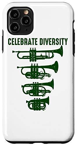 iPhone 11 Pro Max Cool Celebrate Diversity Trumpet Gift Cute Flugelhorn Cornet Case