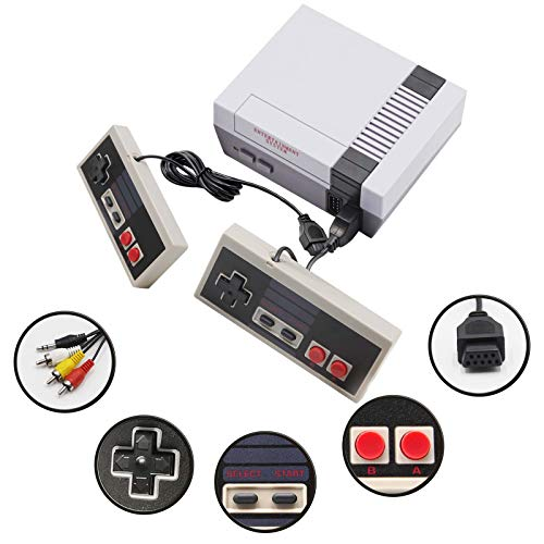 Classic Mini Retro Game Console, with Built-In 620 Classic Games and 2 Classic Controllers, AV Output Video Games, Perfect Kids Gift, Bring You Back to Childhood Memories