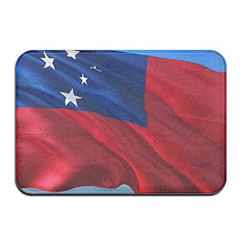 Badvorleger Samoa-Flagge, 3D-Design, Memory-Schaum, rutschfest, besonders saugfähig, 40 x 60 cm