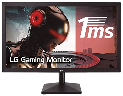 LG 24MK400H-B - Monitor Gaming FHD de 59, 8 cm (23, 8') con Panel TN (1920 x 1080 píxeles, 16:9, 1 ms, 75Hz, 250 cd/m², 1000:1, NTSC 72%, D-SUB x1, HDMI x1) Color Negro Mate