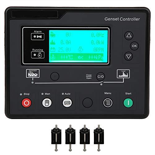 Controlador de Grupo Electrógeno, Controlador Electrónico del Generador, Módulo de Control, Pantalla LCD, Protección de Detección Automática de Arranque y Parada HGM6110U 0.5‑70V