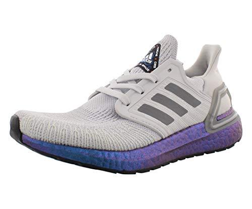 Adidas Ultraboost 20 - Zapatillas de hombre, Gris (Gris/Gris/Boost Azul Violeta Metálico), 43 EU