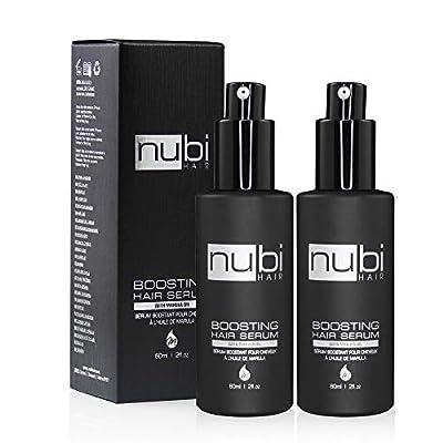 Nubi Boosting Hair Serum - Marula Oil Hair Serum with Vitamin E and Aloe Vera - Marula Hair Serum to Revive Dry, Dull Hair - 2 Fl. Oz. / 60 Ml.