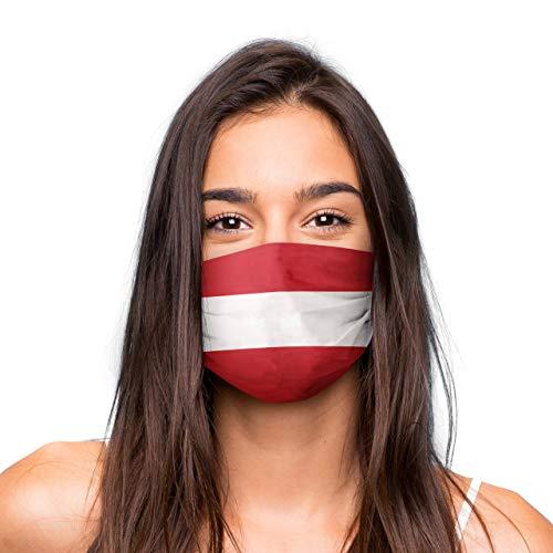 Mund Nasen Maske »Österreich« waschbar | Wiederverwendbare Gesichtsmaske | Community-Maske in Universalgröße | Alltagsmaske handgefertigt in der EU | in unterschiedlichen Farben, Designs und Motiven