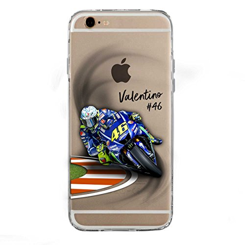 SLIDE IP6 6S Cover TPU Gel Trasparente Morbida Custodia Protettiva, MotoGP Collection, Vale, iPhone 6 6S