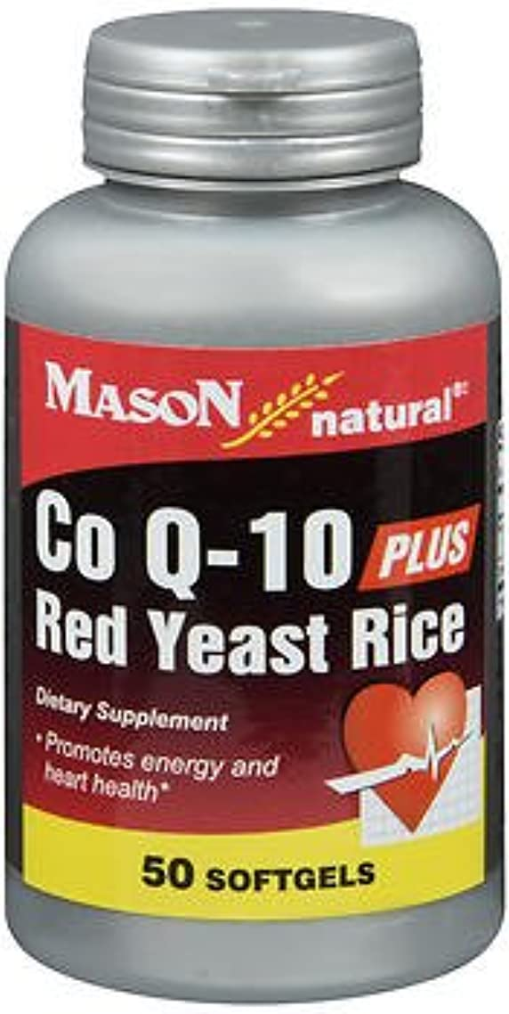 Mason Natural Co Q-10 Plus Red Yeast Rice - 50 Softgels, Pack of 4