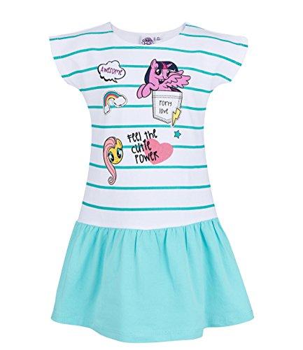 My Little Pony Kleid Mädchen Gr.92-128 Jerseykleid ärmellos neu!, Größe:92, Farbe:weiß/türkis