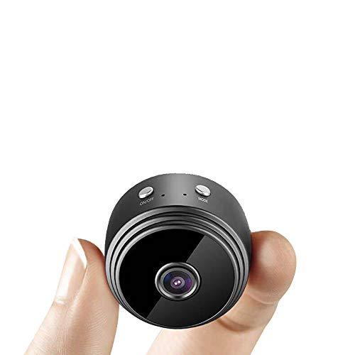 Vvciic A9 Wifi Mini cámara de seguridad Negro Hd 1080P Cam 90° Inalámbrico con Detección de Movimiento Cámaras de Interior Nanny Baby Pet