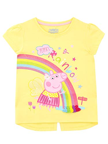 Peppa Pig Camiseta de Manga Corta para niñas Amarillo 6-7 A