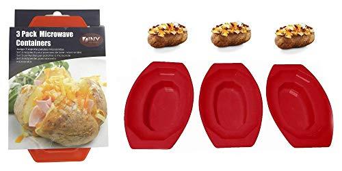 3 Pack Microwave Potato Cooker BPA Free Plastic