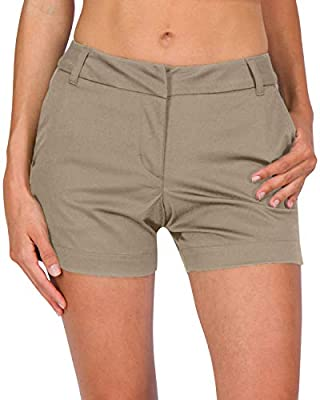 Three Sixty Six Womens Golf Shorts - Quick Dry Active Shorts with Pockets, Athletic and Breathable - 4 ½ Inch Inseam