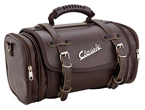 Tasche/Koffer SIP Classic, klein, für Gepäckträger, 330x190x180 mm, ca. 10 Liter, Echt-Leder Imitat, braun