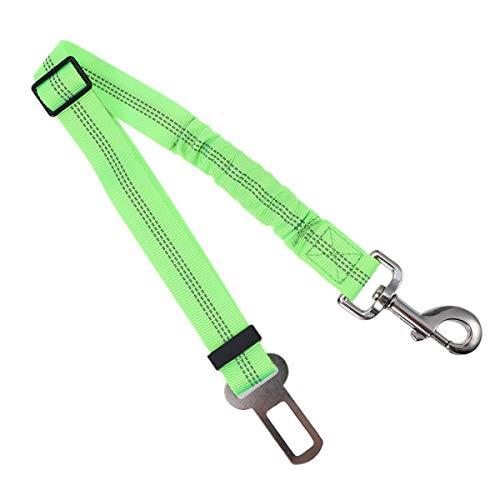 UEETEK Cinturón de Seguridad de Coche para Perro Gato Mascotas Correa Extensible Reflectante Ajustable 53-74cm Verde