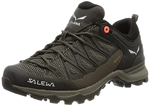Salewa Damen WS Mountain Trainer Lite Gore-TEX Trekking- & Wanderstiefel, Wallnut/Fluo Coral, 38 EU