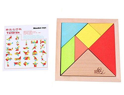 TKS 木製パズル 立体パズル 組み合わせ 木のおもちゃ 知育玩具 教育 シルエットパズル 木のぬくもり カラフル木製パズル 立体パズル ブロック 7ピース
