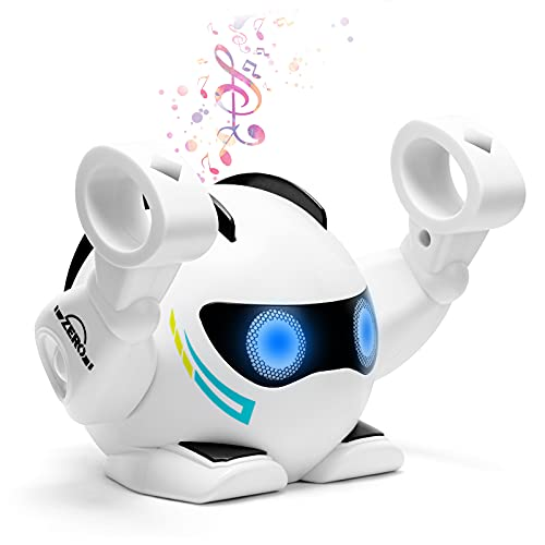 Kidsjoy Robot Toys for Kids: Touch Sensing Smart Robots with Sound Control, Interactive Rolling Singing Dancing Toy Robots for Age 2 3 4 5 6 7 8 Years Old Boys, Girls Birthday Gifts (Upgraded)