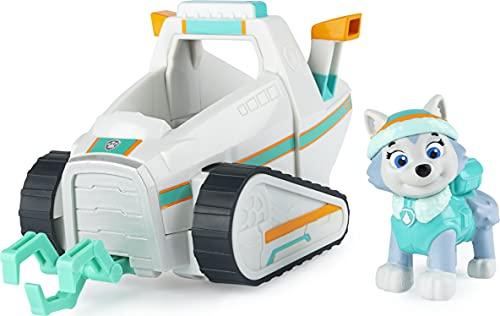 PAW Patrol Everest's Schneepflug Fahrzeug mit Sammelfigur für Kinder ab 3 Jahren