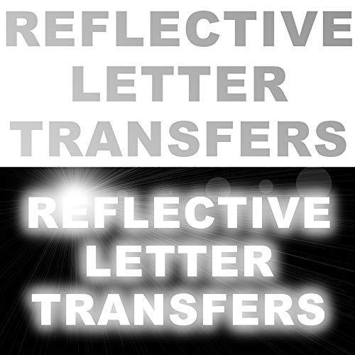 Aangepaste Reflecterende Letter Aantal Transfers Ijzer Op Tekst T Shirts Kleding Sport 7x letters at 25mm height