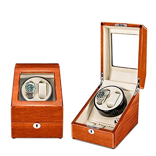 YZSHOUSE ワインディングマシーン 縦型 ツイン LEDライト付き シャンパンゴールド 2+3本巻き 5つのモード設定 PU 炭素繊維 設計 蓋を開ける時 作業が中止されますので 高級PU皮質 男女の腕時計は